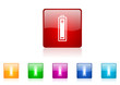 battery vector glossy web icon set