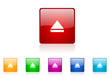 eject vector glossy web icon set