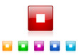 stop vector glossy web icon set