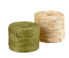 Two different colors of Jute Twine