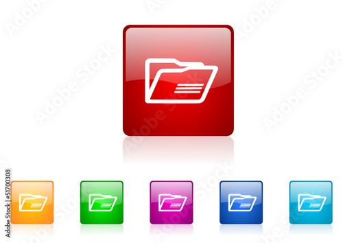 folder vector glossy web icon set