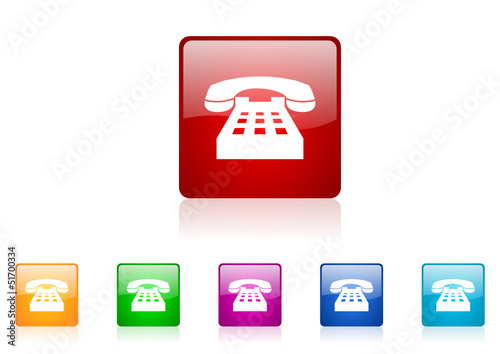 phone vector glossy web icon set