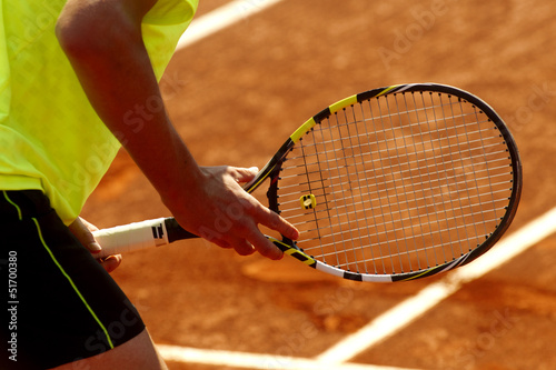 Tenis. Esperando resto Tableau sur Toile