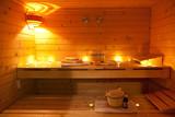Fototapety sauna and sauna accessories