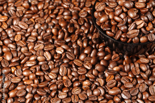 Black Cup with Coffee Beans