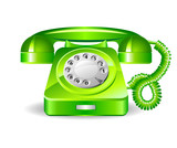 Retro green telephone