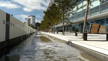Birmingham Millennium Point Water Feature.