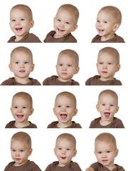 twelve images of child
