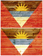 Vintage wall flag of Antigua and Barbuda
