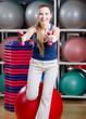 Beautiful sportswoman in sportswear working out