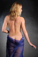 Sensual nude girl with beautiful back and ass