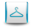 "Light Blue 3D Effect Icon ""Coat Hanger"""