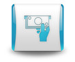 "Light Blue 3D Effect Icon ""ATM - Automated Teller Machine"""