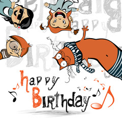 happy birthday funny kids cat
