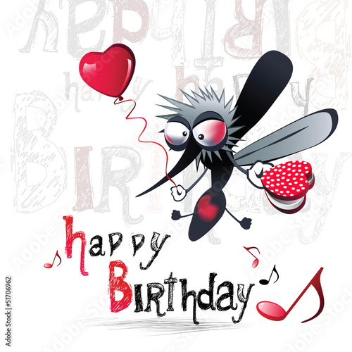 Happy birthday merry mosquito