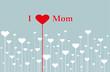 """""""I love Mom"""" Karte mit Blumen-Herzen"""