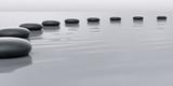 Row of stones leading to the horizont - 51707311