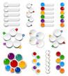 Set of Palettes.  Numbered infographics list design