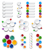 Set of Palettes.  Numbered infographics list design