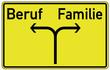 Beruf Familie Schild  #130423-svg01