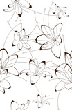 Seamless background, floral design