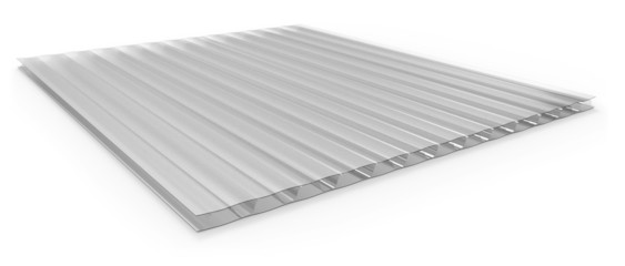 Polycarbonate corrugated sandwich panel