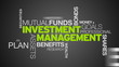 Investment Management Word Cloud Animation
