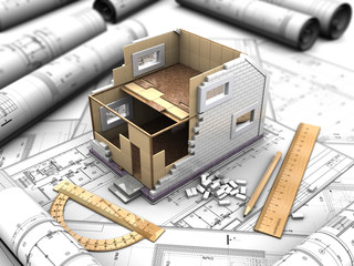 layout the two story home