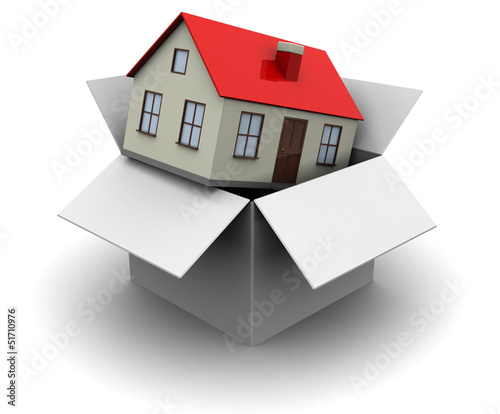 box with house