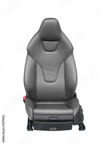 Luxury leather car seat isolated on white background