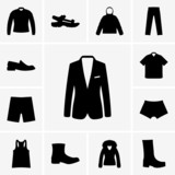 Set of man clothers icons