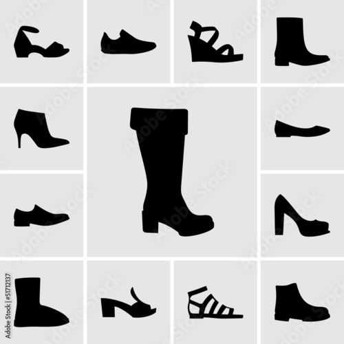 canvas print picture Set of shoes
