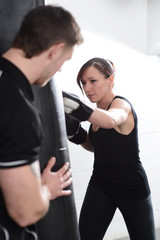 Fitness Instructor with female client