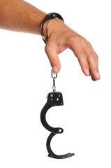 Hand with handcuffs