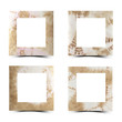 Mulberry paper set of square with  white background
