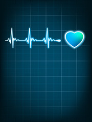 Heart beating monitor. EPS 8