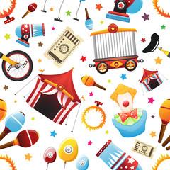 Seamless Circus Icon Pattern