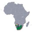 Afrikakarte Südafrika