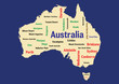 WEB ART DESIGN TAG CLOUD AUSTRALIA KANGAROO PLATYPUS 200