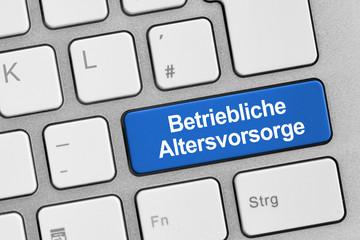 Tastatur mit Betrieblicher Altersvorsorge