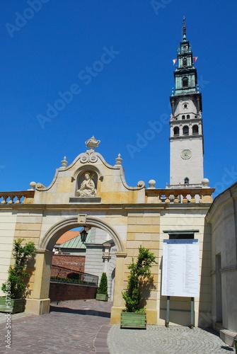 exit gate in Jasna Gora monastery in Czestochowa