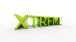 xtrem word rendered isolated