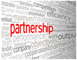 """PARTNERSHIP"" Tag Cloud (team management contract clients ideas)"