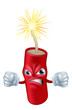 Angry cartoon dynamite stick