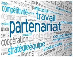 """Nuage de Tags """"PARTENARIAT"""" (business affaires projets contrats)"""