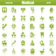 green medical icons reflex