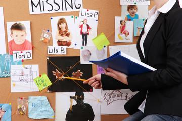 Detective investigating abduction of children