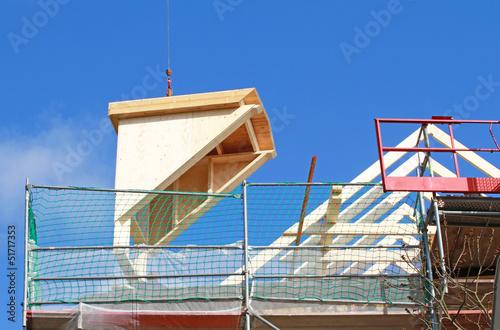 schwebende Dachgaube