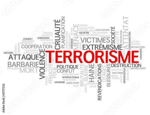 Nuage de Tags TERRORISME (violence attentat extrémisme victimes)