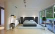 Schlafzimmer mit terrasse - modern style bedroom